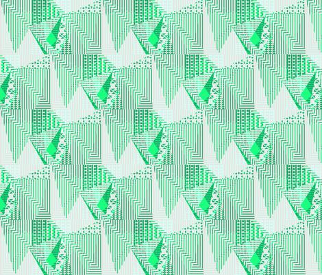 metallic mint fabric by arrpdesign on Spoonflower - custom fabric