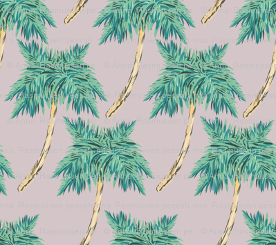 palmtrees pale purple