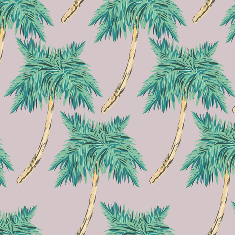 palmtrees pale purple  fabric by arrpdesign on Spoonflower - custom fabric