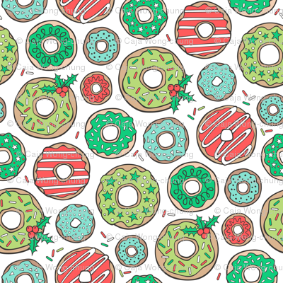 Christmas Holidays Donuts with Stars & Sprinkles