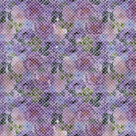 Floral Dot - Purple fabric by malibu_creative on Spoonflower - custom fabric
