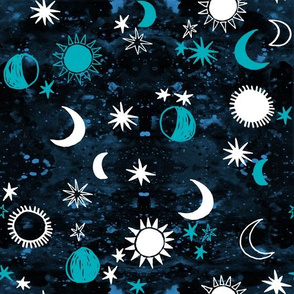 night sky galaxy fabric // nursery baby night sky nursery aqua