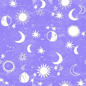 night sky galaxy fabric // nursery baby night sky nursery light purple
