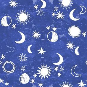 night sky galaxy fabric // nursery baby night sky nursery blue