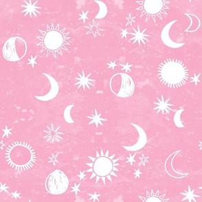 night sky galaxy fabric // nursery baby night sky nursery pink