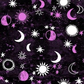 night sky galaxy fabric // nursery baby night sky nursery dark purple