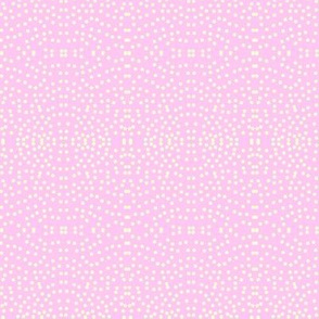 Seaspray Splashes on Rosy Romance Pink - Small Scale