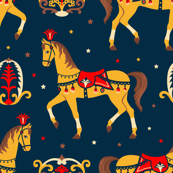 Retro circus pattern