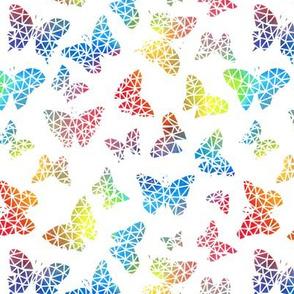 Rainbow Geo Butterflies