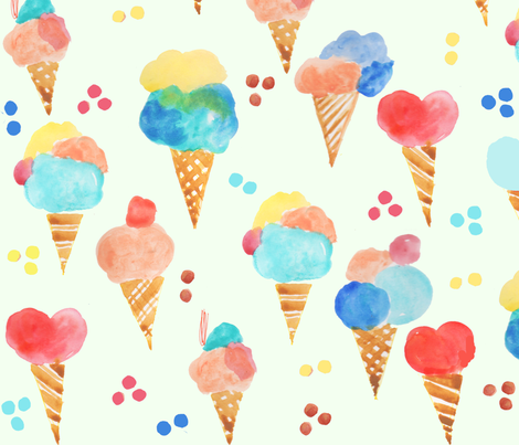 Icecream party fabric by amprints on Spoonflower - custom fabric