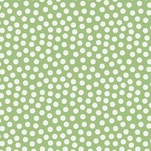 Green White Sketch Dot