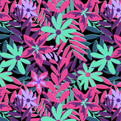 Tropical Neon Florals