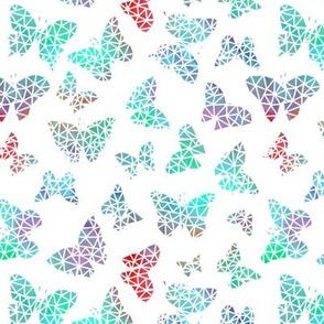Aqua Geo Butterflies