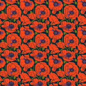 Poppies Color | Navy