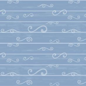 Blue Beachwood Coordinating Design