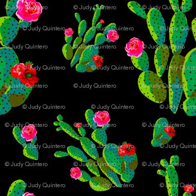"""4"""" Retro Cactus - Bright Green & Black"""