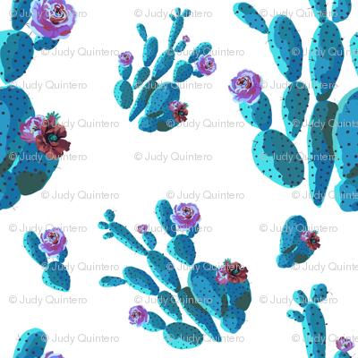 """4"""" Retro Cactus - Blue"""