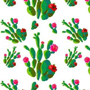"4"" Retro Cactus - Bright Green"