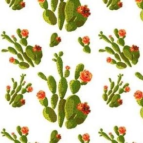 "4"" Retro Cactus - Orange & Green"