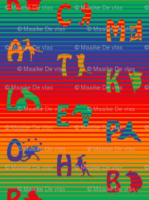Rainbow circus animal alphabet