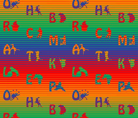 Rainbow circus animal alphabet fabric by zandloopster on Spoonflower - custom fabric
