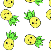 Kawaii Pineapple White