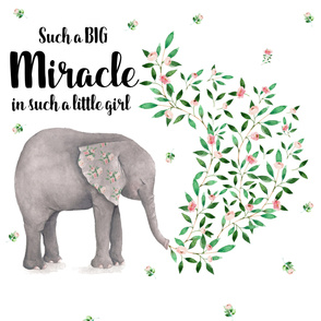 "56""x108"" Such a Little Miracle in such a Little Girl"