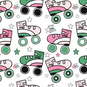 """4"""" This is How I Roll - Light Pink & Green with Quote"""