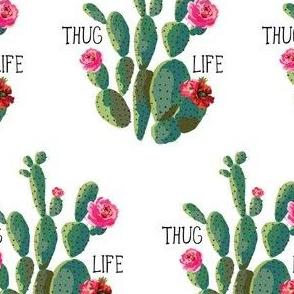 """4"""" Thug Life - White"""