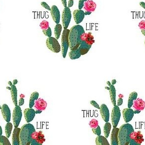 "4"" Thug Life - White (Smaller)"