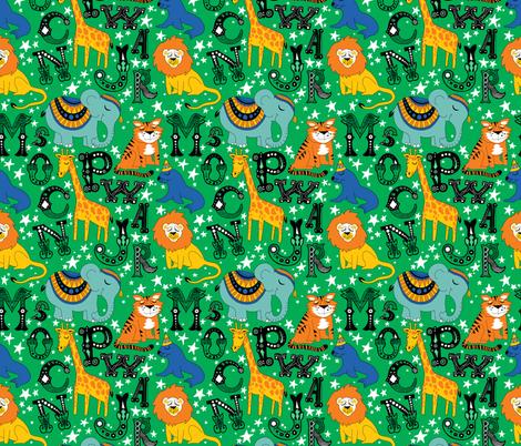 Animal Alphabet fabric by roguerens on Spoonflower - custom fabric