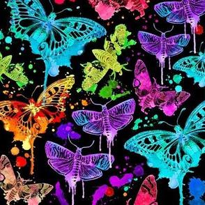 Electric Splatter Drip Moths