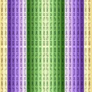 Mardi Gras Let Go and Let God Mirror Stripe