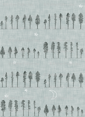 Midnight Forest (grey)