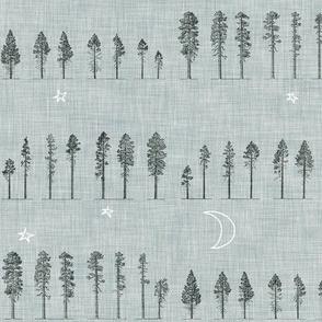 Midnight Forest (grey)