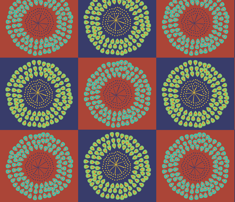 African Flowers warm fabric by colour_angel_by_kv on Spoonflower - custom fabric