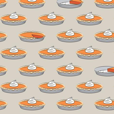 pumpkin pie - beige fabric by littlearrowdesign on Spoonflower - custom fabric