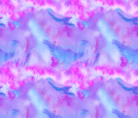 Abstract Pink, Blue and Purple Watercolor fabric by suzzincolour on Spoonflower - custom fabric