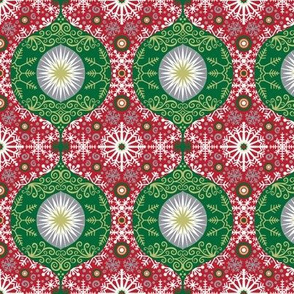 Christmas Ogee Snowflakes and Ornaments