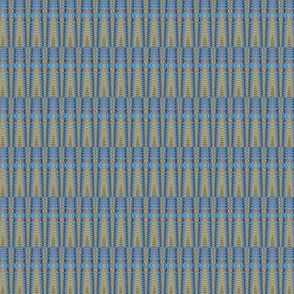 Blue Basket Weave Upholstery Fabric