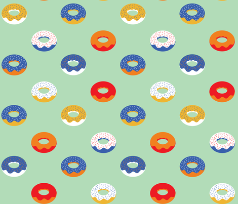 circus donuts fabric by booboo_collective on Spoonflower - custom fabric