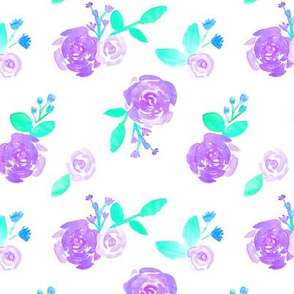 Purple Blush Watercolour Flower Garden