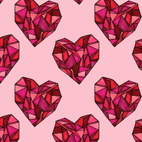 Geometric Heart Repeating Print