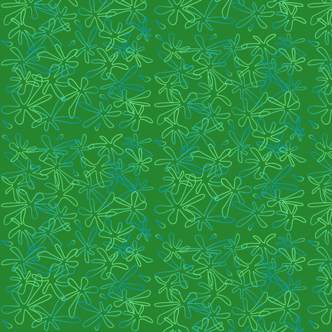 Green with Envy Small 001 fabric by lowa84 on Spoonflower - custom fabric