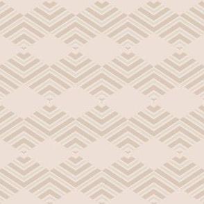 Sandy Beige Chevron Diamond Stripes