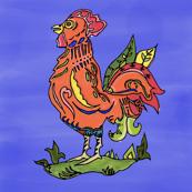 Folk Art Rooster III