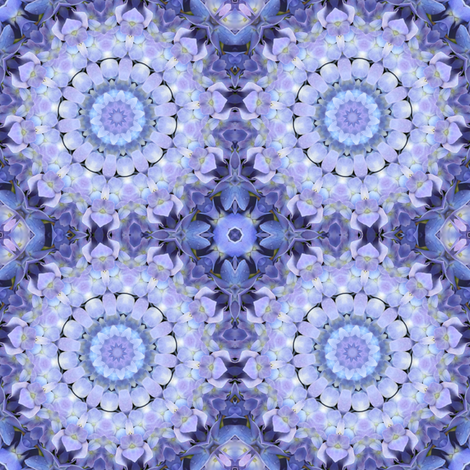 Lavender Hydrangea Pinwheels 1506 fabric by falcon11 on Spoonflower - custom fabric