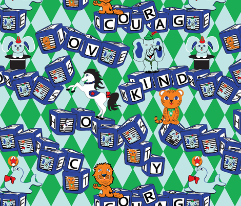 Favorite words fabric by everhigh on Spoonflower - custom fabric