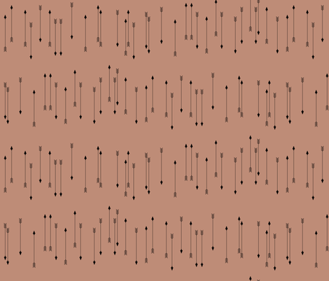 arrows - terracotta red clay skinny arrows fabric by sunny_afternoon on Spoonflower - custom fabric