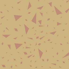 Scaterred triangles - clay on sand yellow || by sunny afternoon